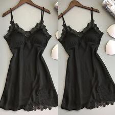 Sexy Lingerie Women Silk Lace Robe Dress Babydoll Nightdress Nightgown Sleepwear