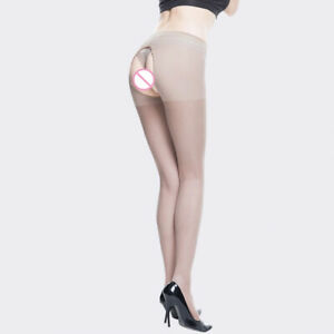 Women's Open Crotch Breathable Sheer Pantyhose Socks Stockings Tights Lingerie