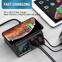100W 8 Ports USB Charger Quick Charge 3.0 Adapter HUB Wireless Charger Charging