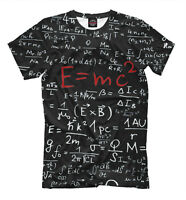 Relativity theory - all over print t shirt geek tee style math formula Einstein