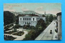 Schweiz St. Gallen AK 1905-1910 Gebäudeansicht Museum Pferdekutsche Straße