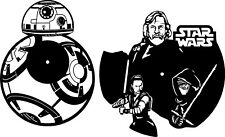DXF CDR and EPS File For CNC Plasma or Laser Cut - New Star Wars Clocks - BB8