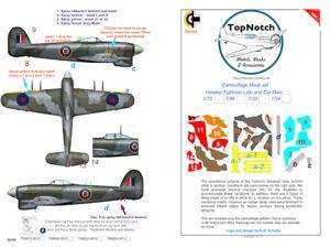 TopNotch Hawker Typhoon camouflage scheme vinyl mask set
