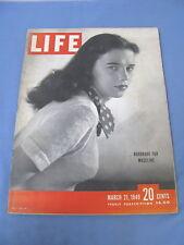 LIFE MAGAZINE MARCH 21 1949 MADELINE BALCAR WEST MEMPHIS SCHOOLS LIZ TAYLOR
