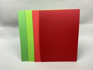 4 Colour Mix - Shades of Red and Green - A5 Card stock - 20 pack - Pack #4