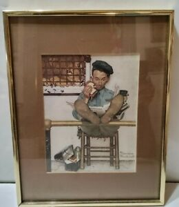 Norman Rockwell The Lion's Share Saturday Evening Post 11x14 Framed Matted