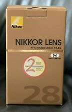 Nikon 28mm F/1.8 G AF-S Lens - Mint condition, full set