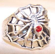 Deluxe Black Widow Spider Silver Bikers Ring #102R unisex motorcycle sz 7 or 14