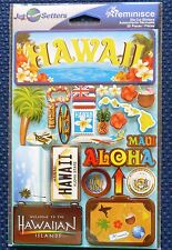 TRAVEL HAWAII DIE CUT STICKERS BY REMINISCE