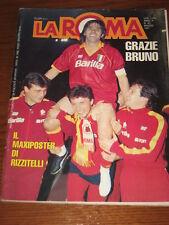 LA ROMA RIVISTA 1991/5  =BRUNO CONTI ADDIO CALCIO=UEFA CUP FINAL INTER PROGRAMME