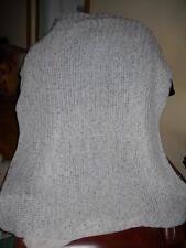 Beautiful Baby Blanket Afghan Cream Flecked M-31