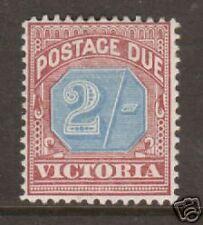 Victoria Sc J9 MLH. 1890 2sh claret & blue Postage Due