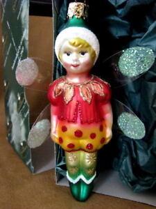 CHRISTBORN BAVARIA BLOWN-GLASS BLOWN GLASS FAIRY CHRISTMAS ORNAMENT~GERMANY~NIB