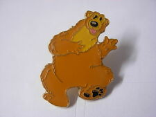 Bear in the big blue house pin badge. Cartoon novelty item.
