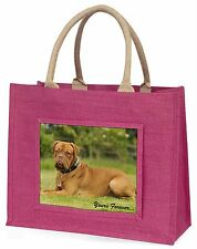 """Dogue De Bordeaux """"Yours Forever..."""" Large Pink Shopping Bag Christm, AD-DB2yBLP"""