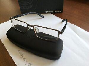 Hi-Tech Porsche Design P8182 Men's Silver Black Lightweight Eyeglass Frame