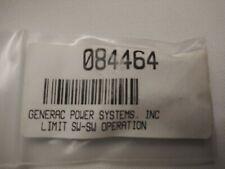 084464-GENERAC- LIMIT SW-SW OPERATION