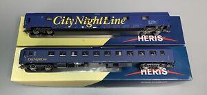 H0 - HERIS (DC)...verschiedene CNL Schlafwagen...2 Stk...NEM...OVP    / 2 E 578
