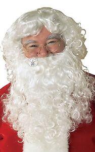 Classic Santa Beard & Wig Set Xmas Christmas Fancy Dress Accessory