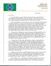 Star Wars, Star Trek Author Alan Dean Foster Signed Ltr On Lovecraft & Sci-Fi