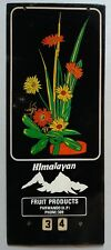 INDIA VINTAGE ADVERTISEMENT TIN SIGN-HIMALAYAN FRUIT PRODUCTS/SIZE-11.5X4.5 INCH