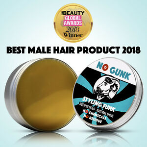 NO GUNK Styling Funk For Hair & Beard - NO Chemicals - Natural Styling Wax Men
