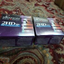 """NEW Imation 3M 2HD Unformatted Diskettes. 2 packs of Ten -3.5"""" Diskettes 2.0 MB"""