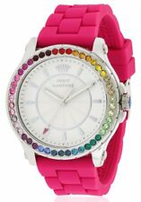 Juicy Couture 1901277 Pedigree Pink Silicone Band Womens Watch $195 - GREAT GIFT