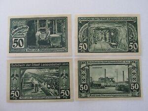 1921 Leopoldshall 50 Pfennig Notes Lot of 4