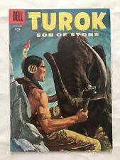 TUROK Son of Stone #4 comic book by Dell Comics -1956