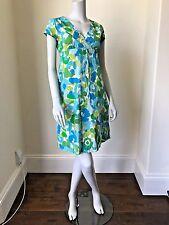 BODEN Summer Holiday Crinkle Dress UK 12 R AQUA Crossover Beach NEW