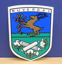 1x Sticker - Decal Nijverdal NL with org.back 80/90's (1609)