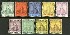 Trinidad   1904-09   Scott # 92-102  Mint Hinged Set