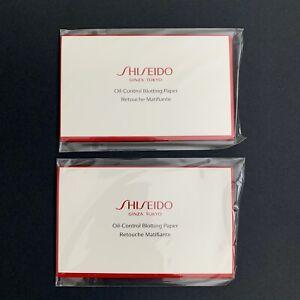 Lot 2 Shiseido Pureness Oil Control Blotting Paper Travel Pack 10 Sheets Each Pk