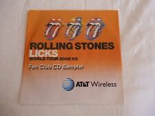 Rolling Stones - Licks World Tour 2002/03 FAN CLUB CD SAMPLER SEALED