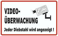Folie selbstklebend Videoüberwachung Privatgrundstück - Größe 180 x 290 mm