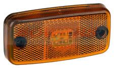 12V 24V VOLT AMBER LED REFLECTIVE SIDE MARKER POSITION LAMP LIGHT + 500MM CABLE