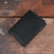 Black Shark Trifold Wallet Amish Hand Made from Genuine Shark Skin Tri Fold