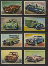 Lot of 8 Car Vintage 1950s Rare Dutch Trading Cards