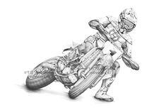 Supermotard Husqvarna SM greeting card classic racer biker thank you motorbike