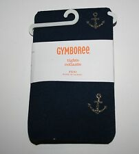 New Gymboree Navy Blue Gold Anchor Tights Tight Size S 5 6 NWT Cape Cod Cutie