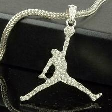 "Air Jordan SP Pendant/Necklace With 24"" Franco Snake Chain"