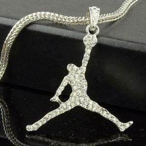 """Air Jordan SP Pendant/Necklace With 24"""" Franco Snake Chain"""
