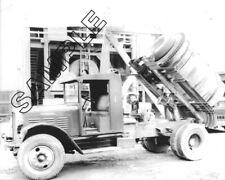 1930 KENWORTH Horizontal Concrete Mixer Truck 8x10 Glossy B&W Photo