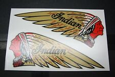 "NOS NEW old repro USA made INDIAN TANK DECALS - ""RED FACE"" Chief WATER SLIDE"