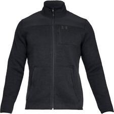 Under Armour UA Specialist Henley Full Zip Sweater  2.0 1316264-001 Black