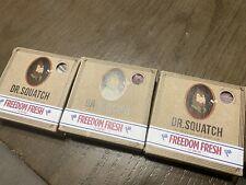 Lot Of 3 Dr. Squatch Freedom Fresh organic soap 5oz BarLIMITED EDITION