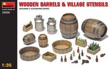 miniart 1/35 madera barriles y aldea Utensilios #35550