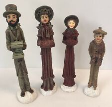 Windsor Collection Christmas Carolers Collectible Set of 4 Vintage Good Cond