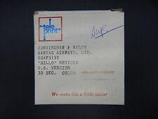 original vintage QANTAS AIRWAYS 16mm commercial reel tv advertising HELLO Rare !